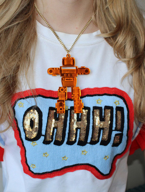 ROBOT necklace, Rijkje Jewelry